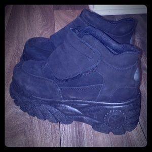 Pre owned black platform shoes